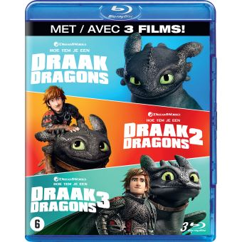 Dragons 1-3 Box DVD Blu-ray
