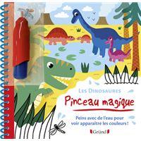 Pinceau magique - Les Dinosaures - Peins avec de l'eau pour voir apparaître les couleurs !