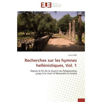Recherches sur les hymnes hellénistiques, vol. 1
