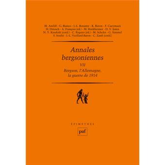 Annales bergsoniennes, VII