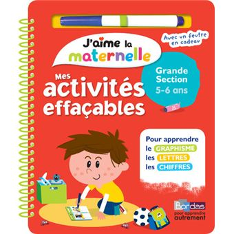 Jaime La Maternelle Mes Activités Effaçables Grande Section 5 6