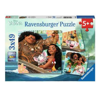 Puzzle 3 x 49 pièces La légende du bout du monde Vaiana Ravensburger