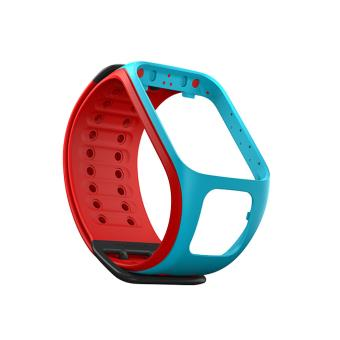 bracelet de montre tomtom runner 2 spark turquoise rouge taille large montre connect e achat. Black Bedroom Furniture Sets. Home Design Ideas