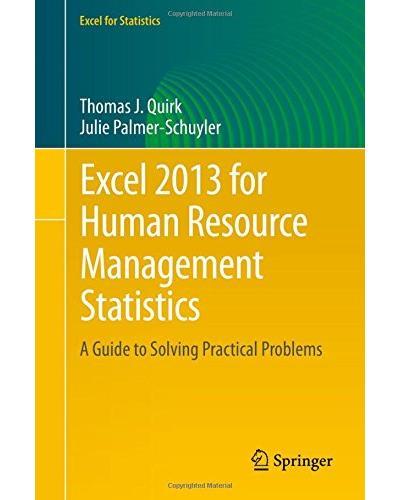 Excel 2013 for human resource management statistics