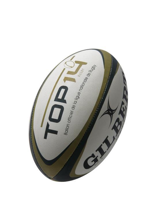 643a2c9529a60 Ballon de rugby Gilbert Zenon Top 14 Taille 5 Blanc, Noir et Vert - Ballon  - Equipements sportifs   fnac