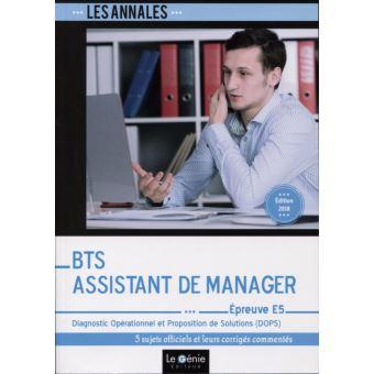 Bts assistant de manager epreuve e5
