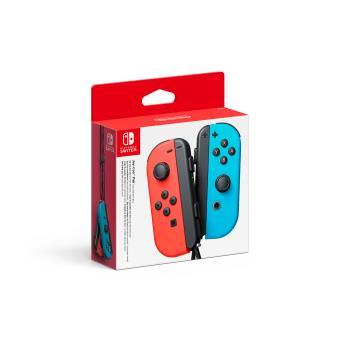 Paire de manettes Nintendo Switch Joy-Con gauche bleue néon et droite rouge néon