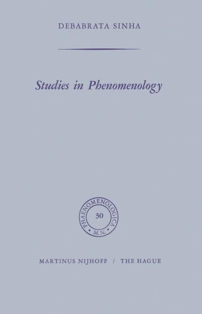 Studies in phenomenology