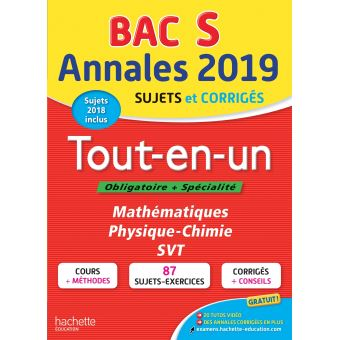 Annales Bac 2019  Tout-en-un Tle S
