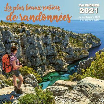 Calendrier Les plus beaux sentiers de randonnée 2021   broché