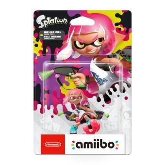 Figurine Amiibo Splatoon Fille rose néon Inkling