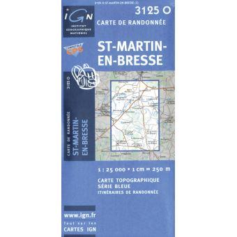 St-martin-en-bresse 1:25 000