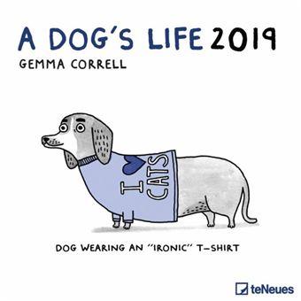 2019 a Dogs Life Grid Calendar