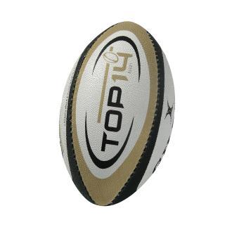 161a564f1ef32 Ballon de rugby Gilbert Replica Top 14 Taille Mini Blanc, Noir et Vert