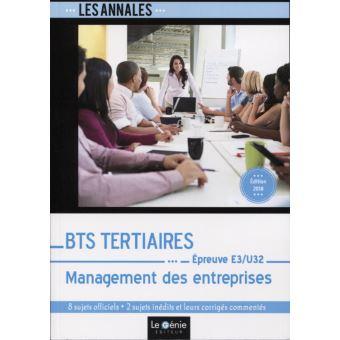 Bts tertiaires management des entreprises