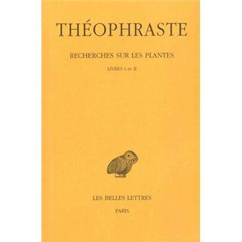 Recherches sur les plantes tome 1 livres i et ii edition for Recherche sur les plantes