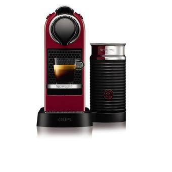 expresso capsule krups nespresso citiz milk yy2730fd 1260 w rouge fnac. Black Bedroom Furniture Sets. Home Design Ideas