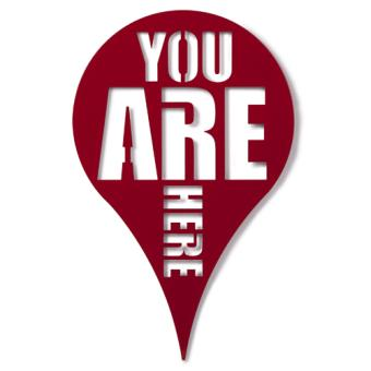 Déco murale Umbra You Are Here rouge   Achat & prix   fnac