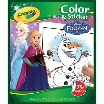 Album De Coloriage Et Autocollants Frozen La Reine Des Neiges Crayola Autre Jeu Creatif Achat Prix Fnac