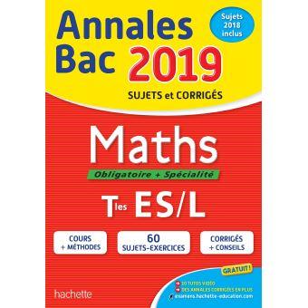 Annales Bac 2019 Maths Tles ES/L