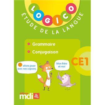 Pochette Logico Etude de la langue Grammaire Conjugaison CE1 Cycle 2