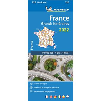 carte michelin itinéraire france Carte France, Grands Itinéraires 2019 Michelin Échelle 1/1 000 000