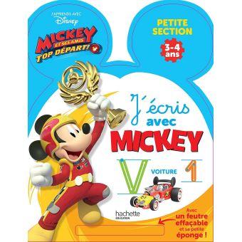 Ardoise J'écris avec Mickey top départ PS
