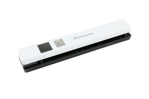 Scanner portable sans fil, Blanc, Enregistrement direct des images numérisées sur la carte MicroSD sur formats JPEG, PDF Port carte mémoire MicroSD, Port USB, Alimentation par batterie Lithium-Polymère intégrée 1200 mAH, Compatible avec : Windows 7, 8, 10