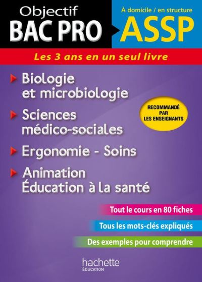 Fiches ASSP Soins, santé, Biologie et microbiologie - 9782012671928 - 7,99 €