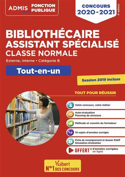 Concours Bibliothécaire assistant spécialisé - Tout-en-un - Catégorie B