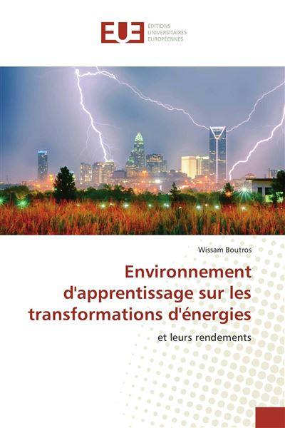 Environnement d'apprentissage sur les transformations d'énergies