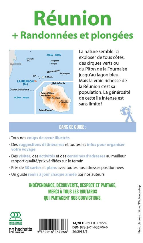 Carte Madagascar Routard.Guide Du Routard Reunion Randonnees Et Plongees 2019