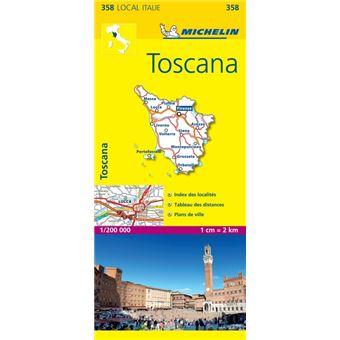 Carte Local Toscane Michelin