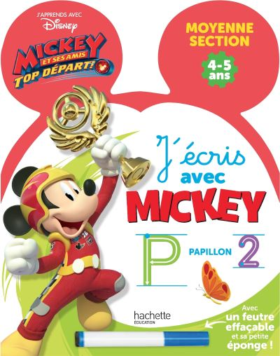 Mickey Top Départ ! -  : Ardoise J'écris avec Mickey Top départ GS, Cycle 1