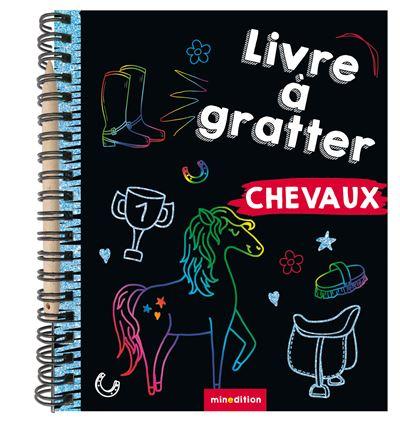 Mini livre à gratter Chevaux