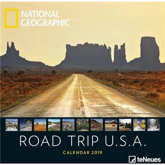 Road Trip USA National Geographic Kalender 2019