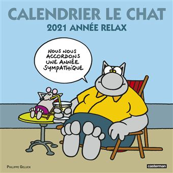 Le Chat   Calendrier Le Chat 2021   Philippe Geluck, Philippe