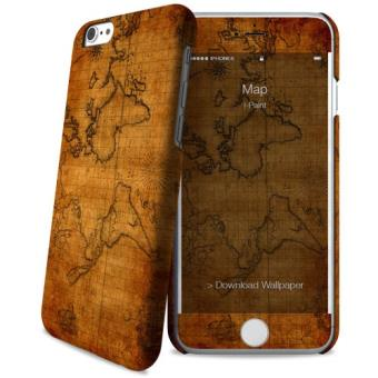 Etui iPaint Hard Case + Skin pour iPhone 6/6s Map