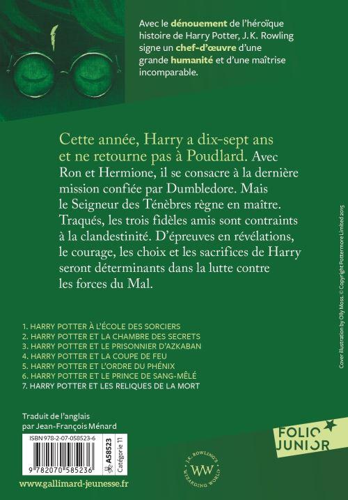 Harry Potter Tome 7 Harry Potter Et Les Reliques De La Mort