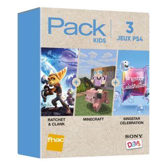 Pack Fnac 3 Jeux Kids PS4 Rachet & Clank + Minecraft + Singstar Celebration