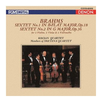 Brahms string sextets nos 1 and