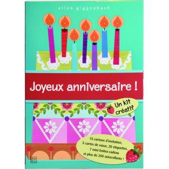 Joyeux Anniversaire 20 Cartes Invitation Et 200 Autocollants Boite Ou Accessoire Ellen Giggenbach Achat Livre Fnac