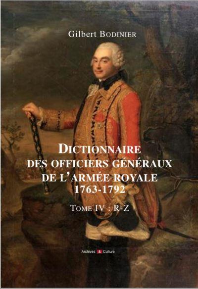 Dictionnaire des officiers generaux de l armee royale 1763 1792