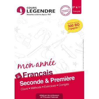 Mon Annee De Francais 2de 1re Cours Methode Exercices Corriges Broche Marrucho Achat Livre Fnac