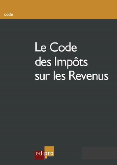 Le code des impôts sur les revenus 2017
