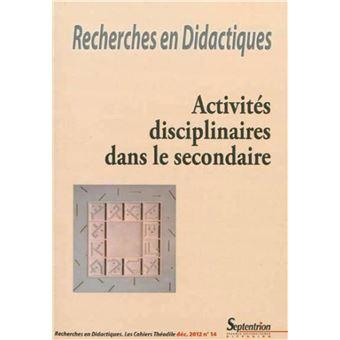 Recherches en didactiques, n 14/decembre 2012