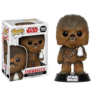 Figurine Funko Pop Star Wars Episode VIII The Last Jedi First Chewbacca avec Porg