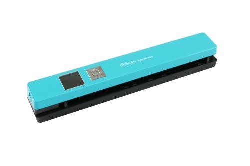 Scanner portable sans fil, Turquoise, Enregistrement direct des images numérisées sur la carte MicroSD sur formats JPEG, PDF Port carte mémoire MicroSD, Port USB, Alimentation par batterie Lithium-Polymère intégrée 1200 mAH, Compatible avec : Windows 7, 8