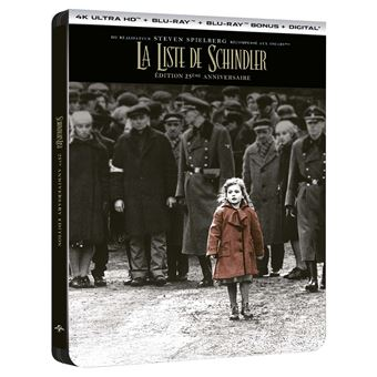 La Liste de Schindler Steelbook Edition Collector Limitée Blu-ray 4K Ultra HD