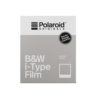 film instantan polaroid originals noir et blanc cadre blanc pour i 1 et polaroid originals. Black Bedroom Furniture Sets. Home Design Ideas